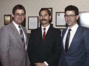 Buddy and Rick Shafer with Mark Piper in 1985.